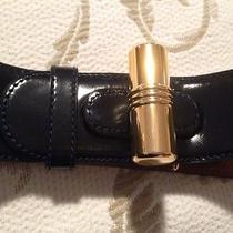 Authentic Vintage Moschino Belt Lipstick Symbol Navy Blue Size 46 Photo