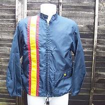 Authentic Vintage Retro American Jacket Medium Blue Photo