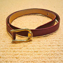 Authentic Vintage Woman's Gucci Leather Belt Photo
