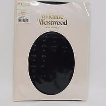Authentic Vivienne Westwood Bolts and Armin Pantyhose Stocking 793 Royal Navy 37 Photo