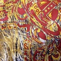 Authentic Vivienne Westwood Silk Scarf  Rare Unique Pattern Signature Crown Photo