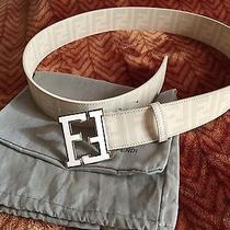 Authentic White Fendi College Belt 95cm 32-34 Waist Photo
