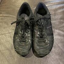 Authentic Womans Diesel Avy Sneakers Black Euc Size 8 Photo