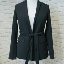 Authentic Women's Armani Exchange Black Lightweight Blazer Size Uk 8 (Dn120f) Photo