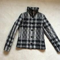 Authentic Womens Burberry Black Nova Check Quilted Jacket Sz Xs Photo