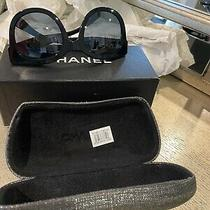Authentic Women's Chanel Sunglasses Black W/ Logo Made in Italy Photo