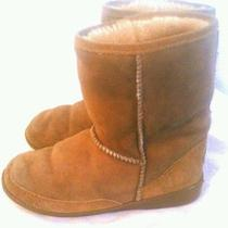 Authentic Women's Minnetonka Leather  Fur Lined Boots Sz 6 Photo