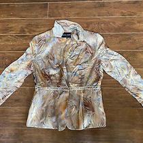 Authentic Women's Silk Georgio Armani Italian Blazer Jacket Euro 48 Gold Bronze  Photo