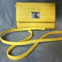 Authentic Yellow Croc Look Leather Small Brighton Cross Body Bag Photo