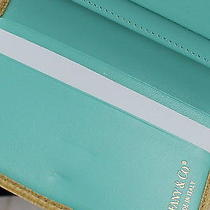 Authentic Yellow & Turquoise Tiffany & Co. Nwot Credit Card Wallet Case Holder Photo