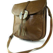 Authentic Yves Saint Laurent Browns Leather Shoulder Bag Ys1002 Photo