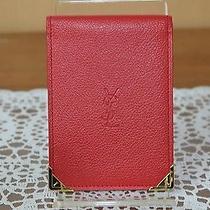 Authentic Yves Saint Laurent Card Case  Reds 95936 Photo