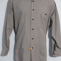 Authentic Yves Saint Laurent Ysl 100% Cotton Mens Sz 16 32/33 Button Front Shirt Photo
