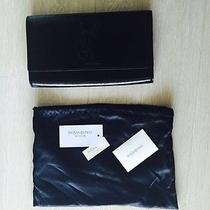 Authentic Yves Saint Laurent Ysl Black Patent Leather Clutch Photo
