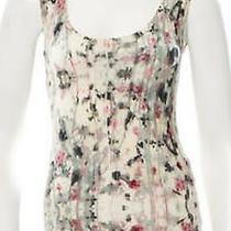 Authentic Zac Posen From Tv Show Revenge Sleeveless Multi-Color Floral Top Photo