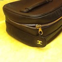 Authientic Chanel Cosmetic / Jewelry  Black Leather Case Photo