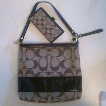 Authontic Coach Purse With Matching Check Book Cover Photo