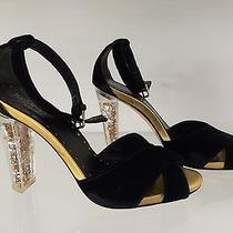 Autographed Tom Ford Ysl Jewel Heel Black Gold Shoes 38.5 8.5 Yves Saint Laurent Photo