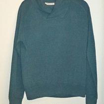 Autumn 100% Cashmere Blue Collared Turtleneck Sweater - M Photo