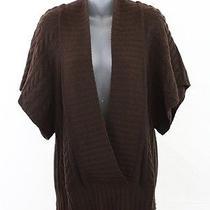 Autumn Cashmere Brown Cashmere Cable Sweater Vest Top M Photo