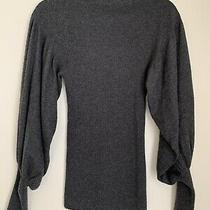 Autumn Cashmere Mock Neck Gray Sweater Size Small Photo
