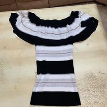 Autumn Cashmere Women's Cotton Striped Pullover Sweater Blue Size X Small Photo
