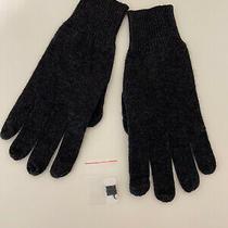 Autumn Cashmere Women's One Size 100% Cashmere Gloves Mittens Dark Gray Photo
