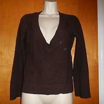 Autumn Cashmere Women's Xs Brown v Neck Pure Cashmere Sweater Photo