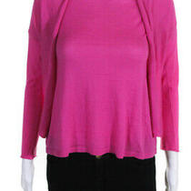 Autumn Cashmere Womens Easy Crop Open Front Cardigan Pink Size Extra Small Photo
