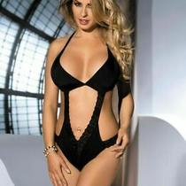 'Avanua Lingerie' Tilo Black Lycra & Lace Body ( Uk Sizes 8 - 12 ) Photo