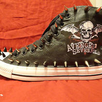 Avenged Sevenfold Metal Punk Custom Studded Converse Shirt Sneakers Shoes Spikes Photo