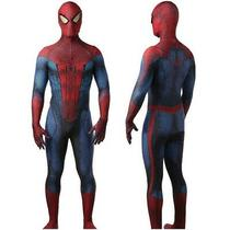 Avengers the Amazing Spider-Man Peter Parker Jumpsuit Cosplay Costume Kids Adult Photo