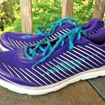 Avia Avi Motion Fitness Purpler & Aqua Striped Running Womens Shoes Sz 10 B2 Photo