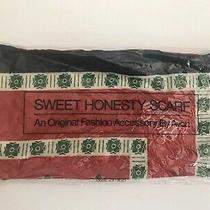 Avon 1978 Sweet Honesty Scarf Brand New Red Blue Green 21x21 Photo