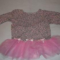 Avon 4t Girl's Long Sleeve Tulle Tutu Shirt Nighty Pink Leopard Print Bows Girly Photo