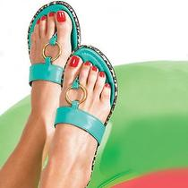 Avon Animal Print Ring Sandal Size 10 Blue Photo