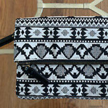 Avon Aztec Jacquard Foldover Clutch With Wristlet Strap Photo