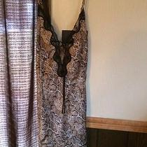 Avon Babydoll Nighty Ladies Size Large. Lepord and Black Lace Silk Photo