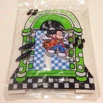 Avon Be-Boppin' Mickey Mouse Suspenders Blue & White  Checkered Disney New Photo