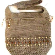 Avon Beaded Crocheted  Hobo Handbag Purse  Nwot Photo