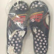 Avon Big Slugger 1 Dad Slippers  Navy Size  13/14  Baseball New Sealed Photo