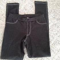 Avon Black Denim Look Leggings Size Small Photo