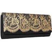 Avon Black & Gold Lace Clutch - Perfect for Holidays Photo