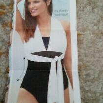 Avon Black White Multiway Swimsuit.  Size 14/16.  Rrp 22 Photo