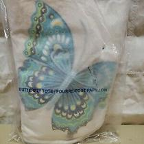 Avon Blue Butterfly Tote With Glitter Trimmed Butterly - New Photo