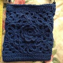 Avon Blue Crocheted Purse Photo