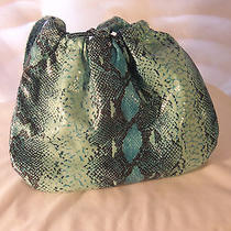 Avon Blue Snake Print Purse Nwot Photo