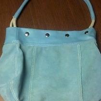 Avon Blue Suede Bag  Photo
