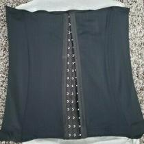 Avon Body Illusions Hook Eye Corset Black Size Lg Photo