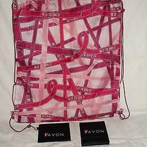 Avon Breast Cancer Backpack/gym Bag  Bonus Gifts Photo